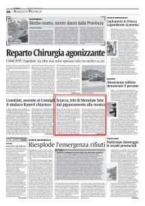 MENELAW SETE - ARTICOLO SUL QUOTIDIANO LA SICILIA.