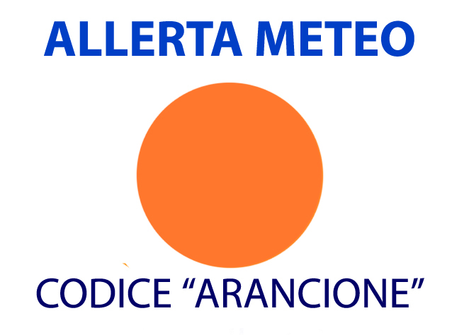 ALLERTA METEO, CRITICITÀ ARANCIONE