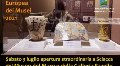 NOTTE EUROPEA DEI MUSEI, APERTURA STRAORDINARIA DEL MUSEO DEL MARE E DELLA GALLERIA FAZELLO
