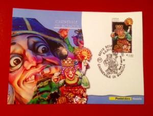 francobollo e cartolina carnevale di sciacca