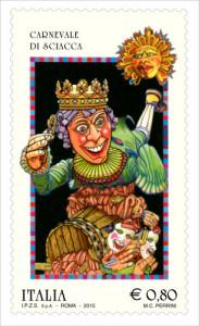 francobollo poste italiane carnevale di sciacca