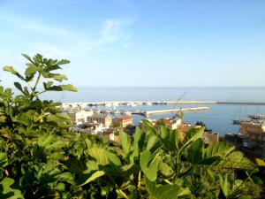 porto di sciacca con verde