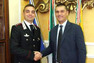 sindaco di paola con capitano marchese