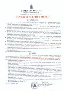 AVVISO allerta Arancione per 21 ottobre 2015