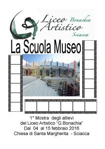 locandina mostra la scuola museo - carnevale di sciacca 2016