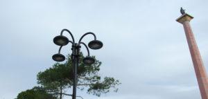 luce impianto pubblica illuminazione terme