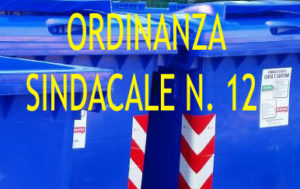 ORDINANZA SINDACALE 12