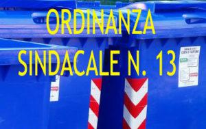 ORDINANZA SINDACALE 13