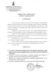 ordinanza sospensione attività didattiche scuole 24 gennaio 2017