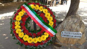 cippo vittime mafia piazza lombardo corona fiori falcone capaci