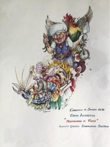 Carnevale di sciacca 2018 - bozzetto associazione la nuova isola