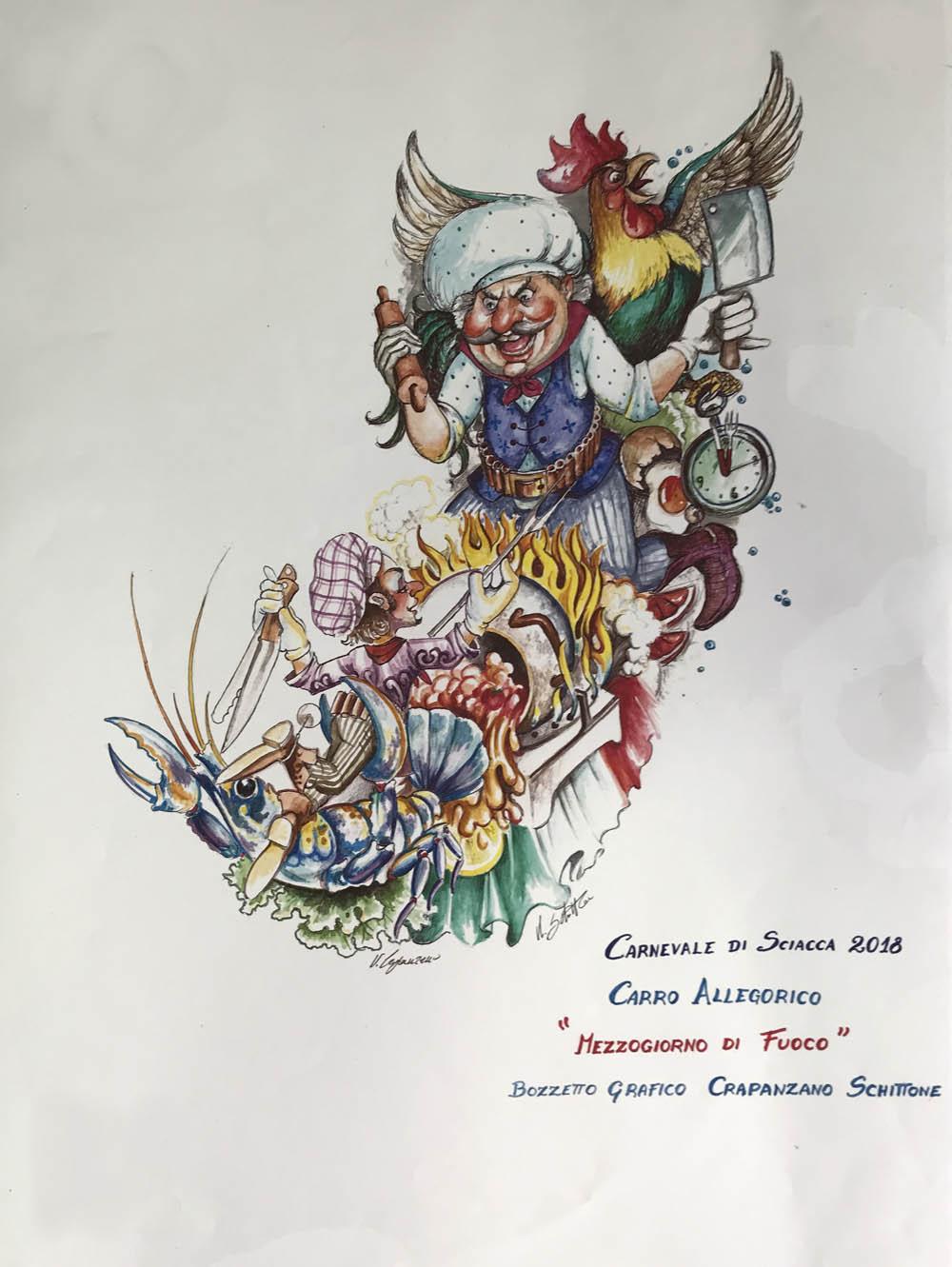 2018 Comune Carri Carnevale Dei I Di Allegorici Bozzetti Sciacca