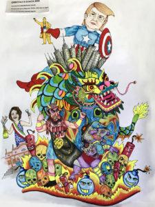 Carnevale di sciacca 2018 - bozzetto associazione nuova arte 96
