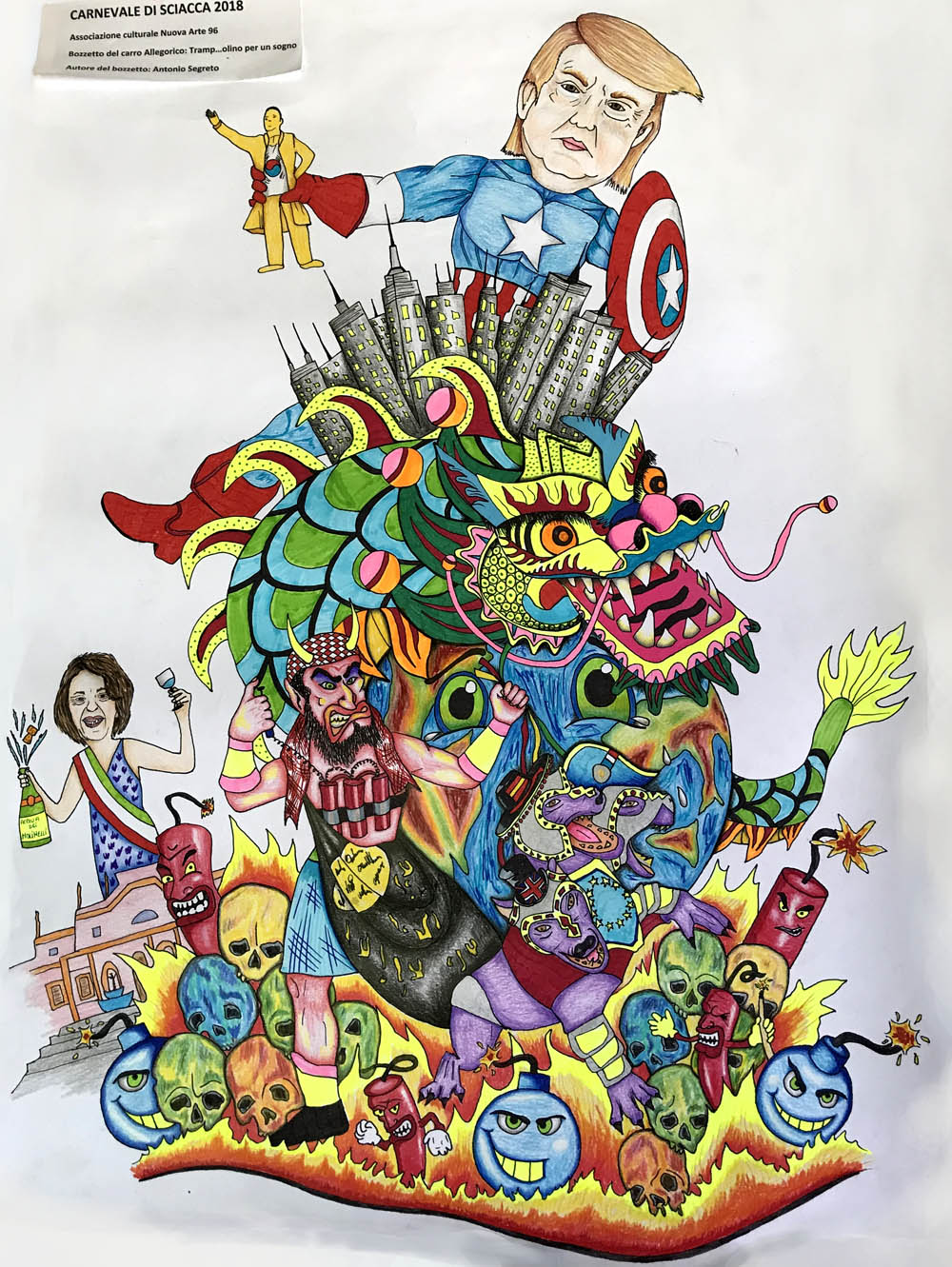 Carnevale di sciacca 2018 i bozzetti dei carri allegorici for Arte arredi sciacca