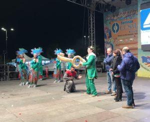 carnevale di sciacca 2018 - cerimonia di consegna chiavi a peppe nappa